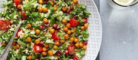 MILLET TABBOULEH SALAD WITH ROASTED CHICKPEAS 