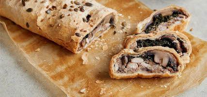 MUSHROOM, CANNELLINI BEAN AND SPINACH WELLINGTON